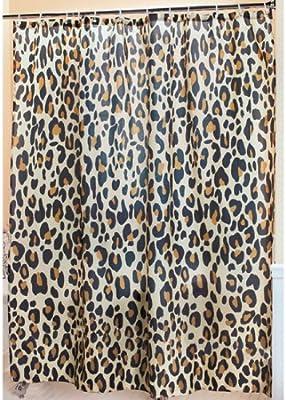 Leopard Shower Curtain Safari Bathroom