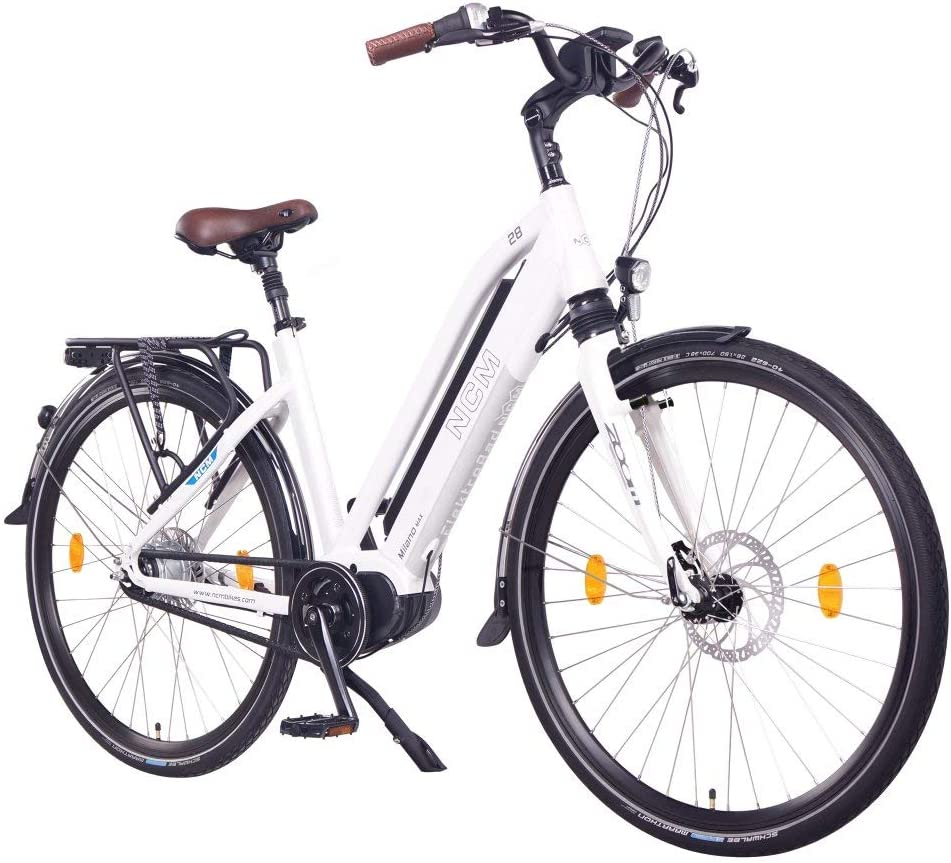 NCM Milano MAX N8R Bicicleta eléctrica, Bicicleta de Trekking, 250W Motor Central, Batería 36V 16Ah 576Wh, 28