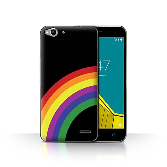 huge discount 98de9 e734d STUFF4 Phone Case/Cover for Vodafone Smart Ultra 6 / Rainbow Stripes  Design/LGBT Gay Pride Art Collection