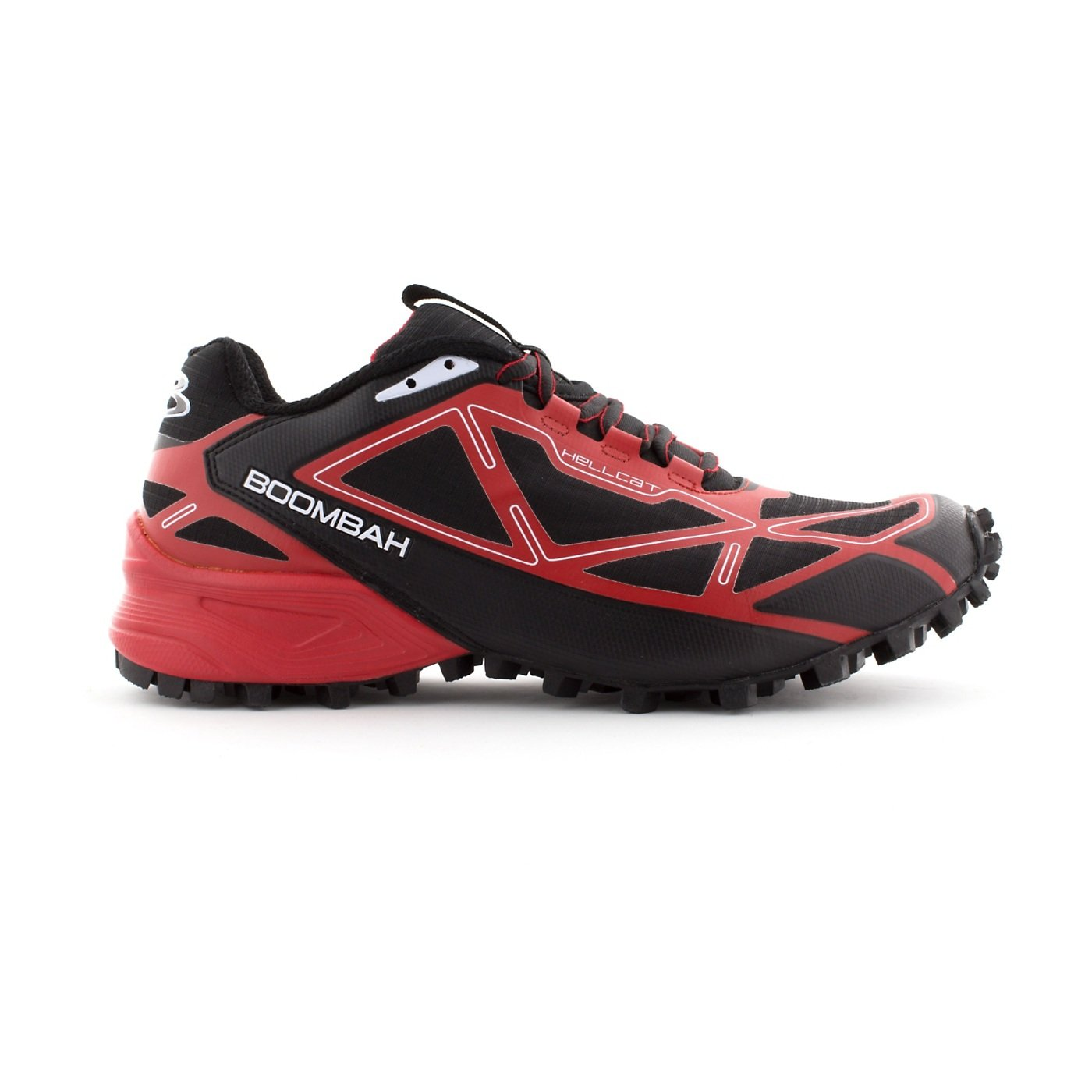 Boombah Men's Hellcat Trail Shoe - 14 Color Options - Multiple Sizes B073X6JT6S 13|Black/Red