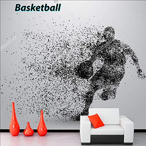 Basketball Wallpaper Cartoon murals for Children's Rooms Coliseum Living Room Backdrop Waterproof Wallpaper (W)400(H)280cm A