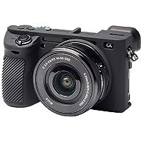 Mugast Funda Protectora de Silicona portátil, Protector de Piel de Cubierta de Carcasa de cámara Profesional para cámara Sony A6500(Negro)