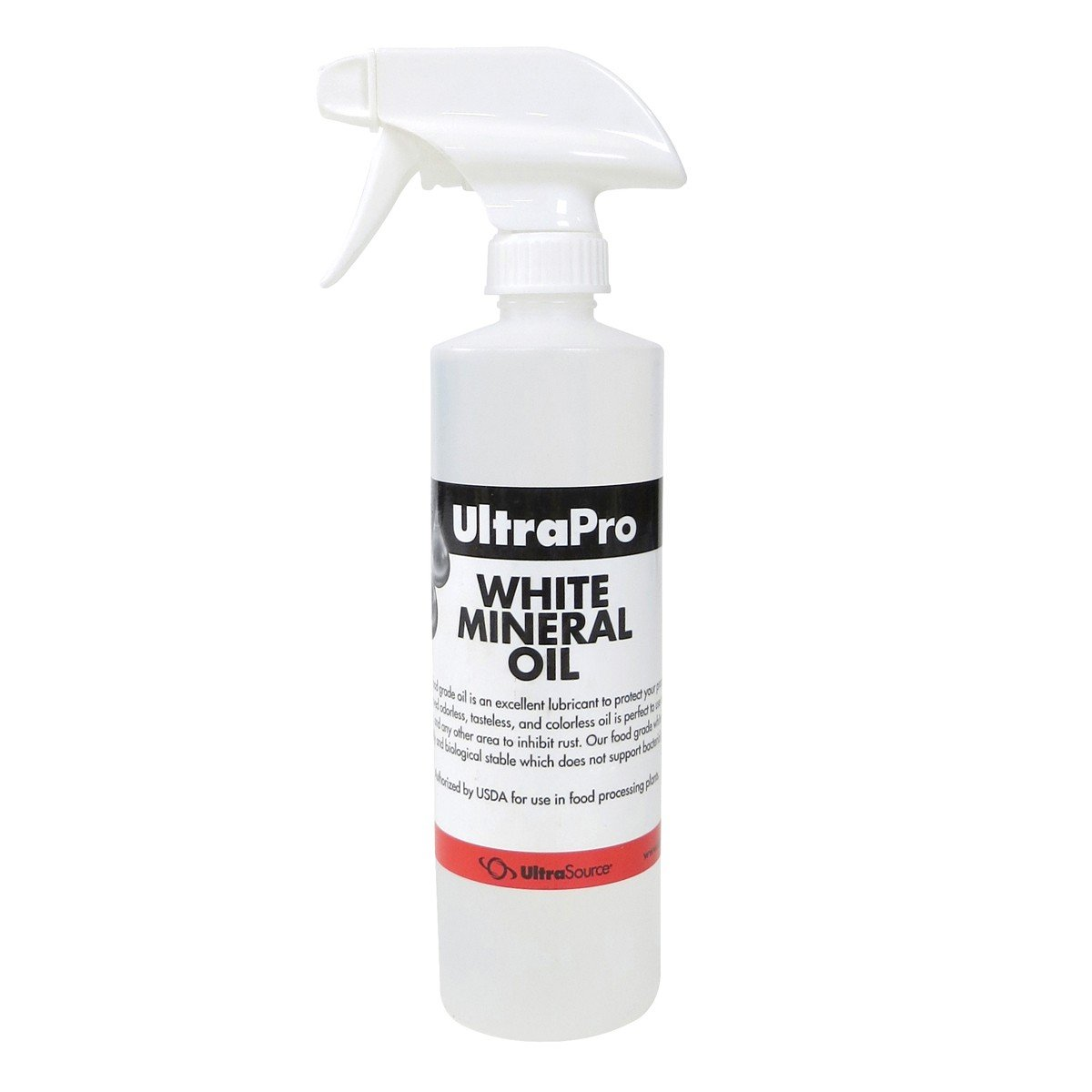 16 oz. Spray Bottle - Food Grade Mineral Oil for Stainless Steel, Cutting Boards and Butcher Blocks, NSF UltraSource 501331