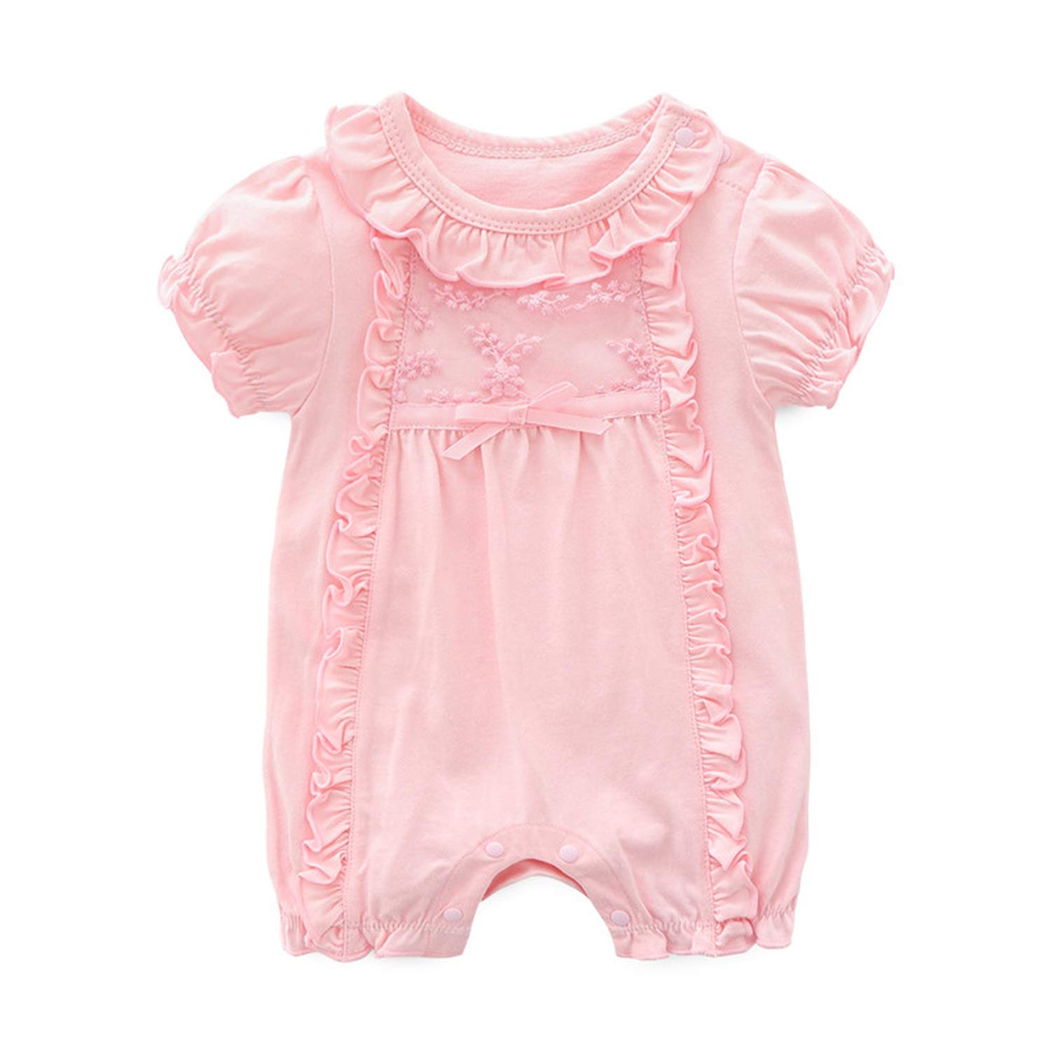 Newborn Baby Girl Clothes Lace Flowers Jumpsuits /& Hats Clothing Sets Princess Girls Footies for Spring Baby Body Suits