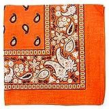 Paisley One Dozen Cowboy Bandanas(Orange)