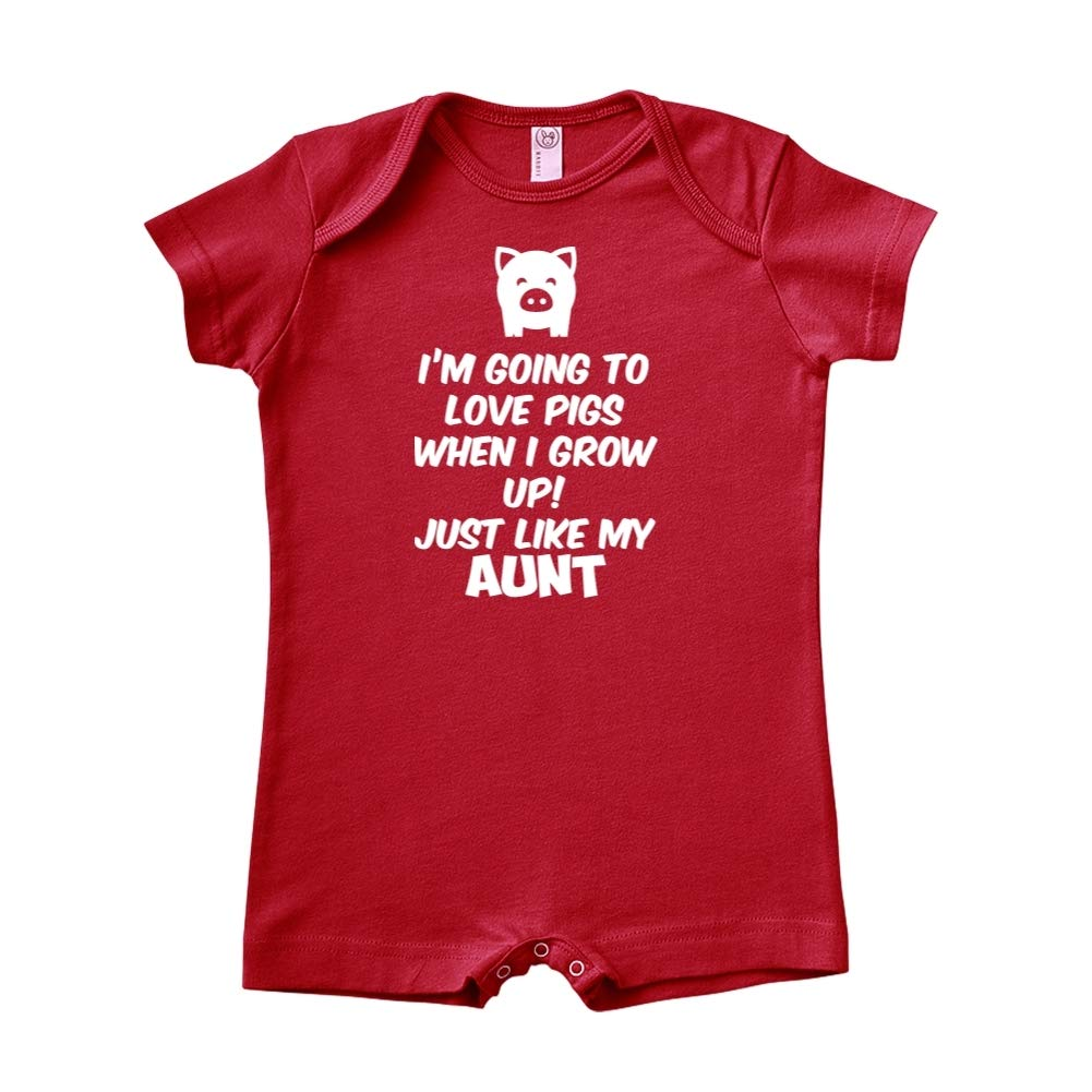 Im Going to Love Pigs When I Grow Up Baby Romper Just Like My Aunt