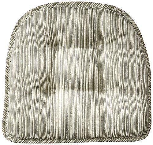 (Klear Vu Gripper Non-Slip Sophia Stripe Tufted Chair Cushions, 15