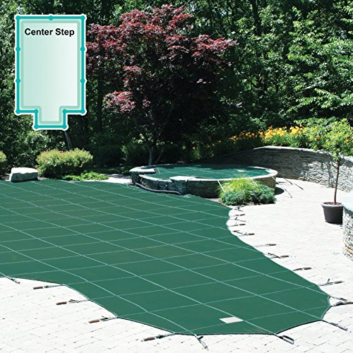 Meyco 20 x 40 ft. Rectangle Safety Pool Cover with 4 x 8 ft. Center End Step