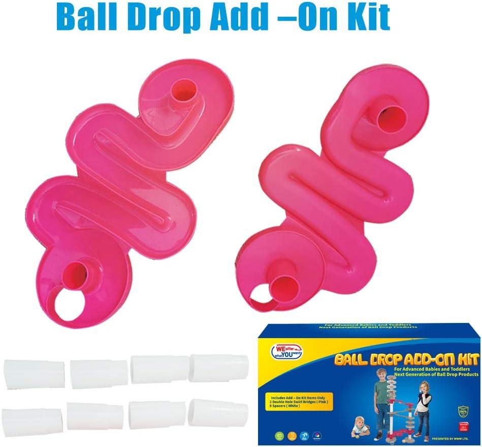 Kit Super Circuito Rampa De Bolas De colores Con Puente Tobogán . Set Complemento Ball Drop Interactivo . Juego Educativo Circuitos Para Bebe 10 Meses O Juguetes Bebes 1 Año En Adelante