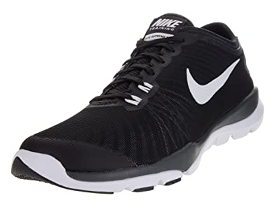 1891d332184e4 Nike Women s Flex Supreme TR 4 Training Shoe Black White Anthracite Stealth  Size