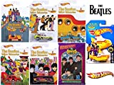walmart gas card - Hot Wheels Beatles Exclusive Cars with The Yellow Submarine & Collectible Trading Cards Collection 6-Car Bundle Bumper Car / Taxi Cab / Morris Mini