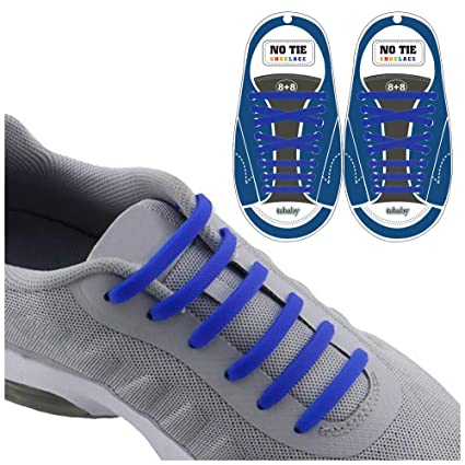 cb8a7ff0cbb54 Extra No Tie Shoelaces for Men and Women - Best in Sports Fan â Waterproof  Silicon Flat Elastic Athletic Running Shoe Laces with Multicolor for  Sneaker Boot ...