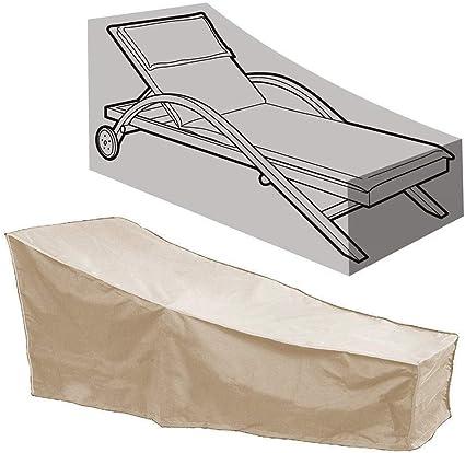 HYUGO Funda Protectora para Tumbona - Patio Funda Protectora - para Muebles de Jardín Impermeable Funda para Sillas Chaise (82L x 30W x 31H): Amazon.es: Coche y moto