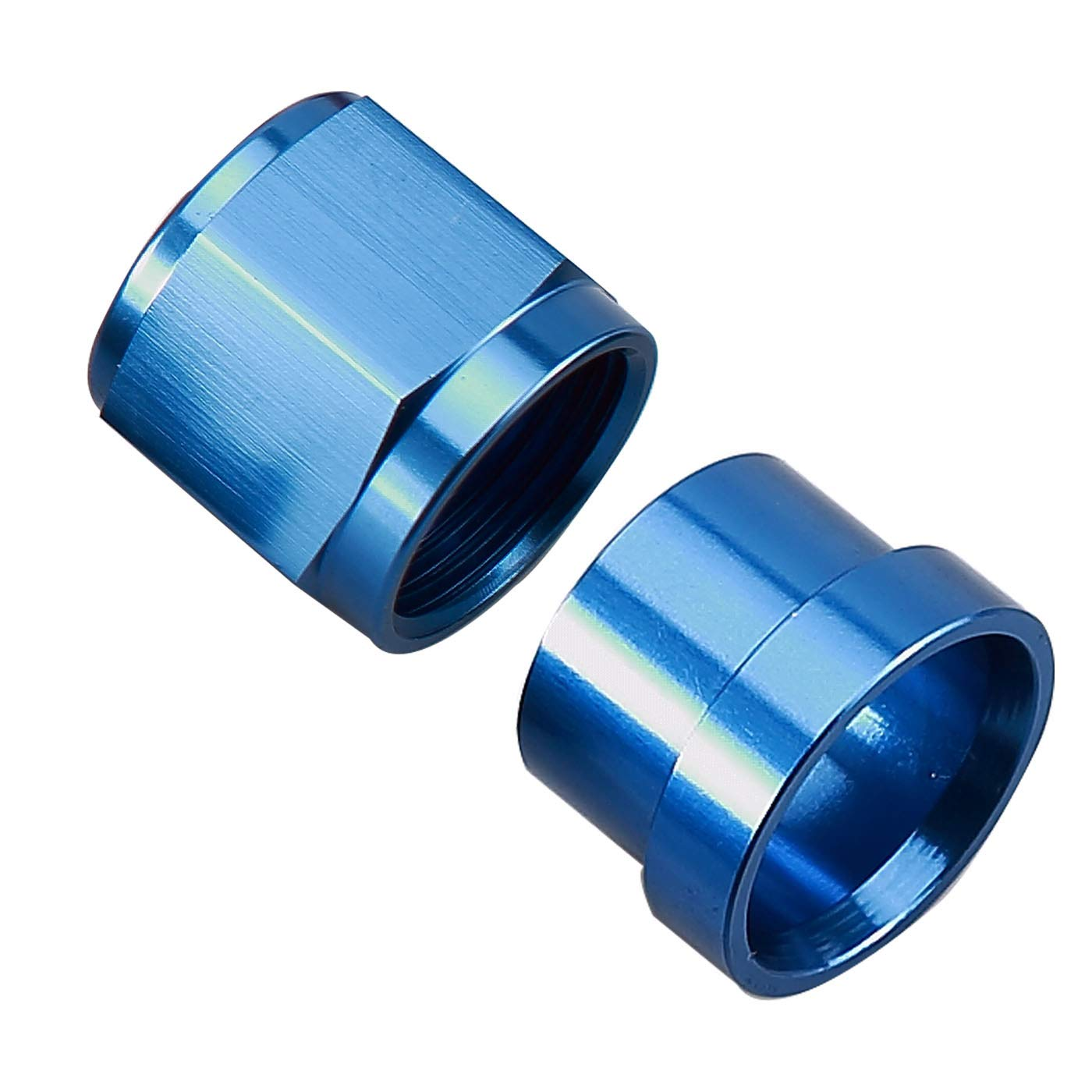 Pack of 2 Aluminum 1 NPT Thread Allen Head Socket Pipe Plugs Blue Anodized