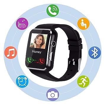 Montre Connectée SN07 Bluetooth Smartwatch avec Caméra SIM Carte Ecran Tactile Sport Pédomètre Moniteur de Sommeil