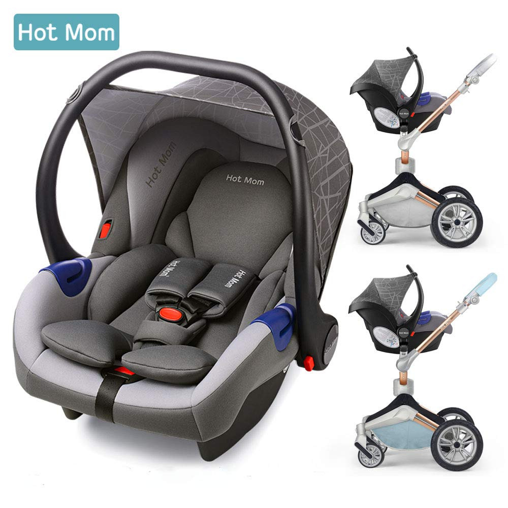 Hot Mom Siège Auto Groupe 0 + (0–13 kg), Gris Hot Mom baby products co. Ltd BIUCO-BC100B