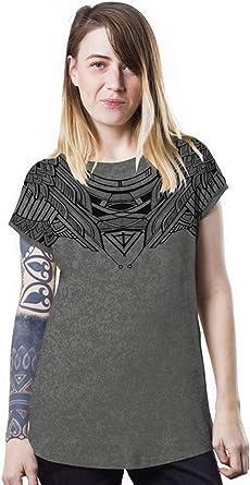 Camiseta Urbana Gris de algodón Serigrafiada con búho - Ropa de diseño Original para Mujer, Talla L: Amazon.es: Ropa y accesorios