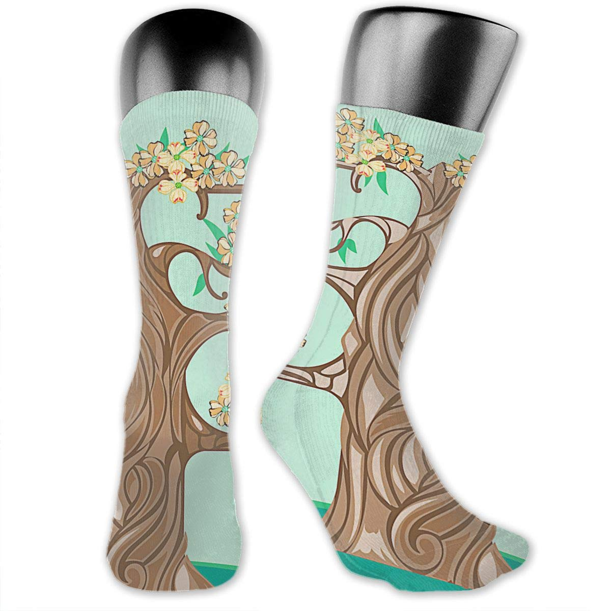 OLGCZM Dogwood Flowers and Tree Men Womens Thin High Ankle Casual Socks Fit Outdoor Hiking Trail