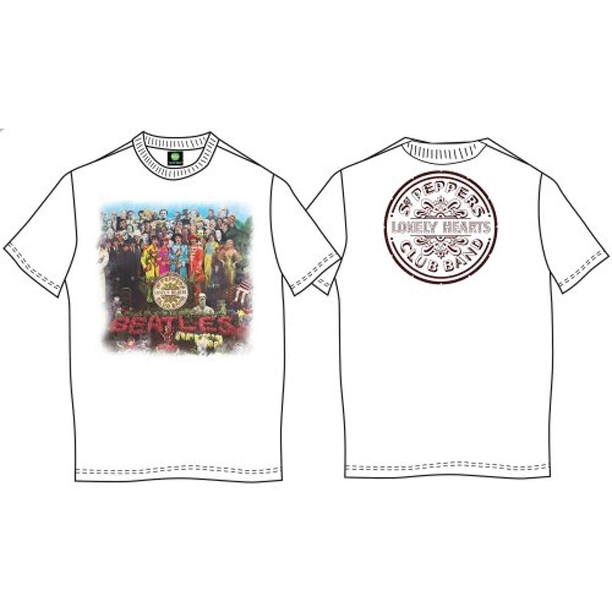 XL White Mens The Beatles Sgt Pepper Premium T Shirt