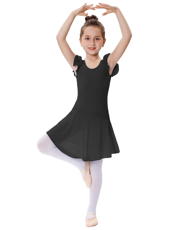 GRACE KARIN Niña Vestido de Ballet de Princesa Maillot de Danza Gimnasia Leotardo con Falda Tutú