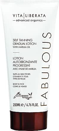 VITA LIBERATA Advanced Organics Fabulous Self-Tanning Gradual Lotion With Marula Oil, 6.76 Fl Oz