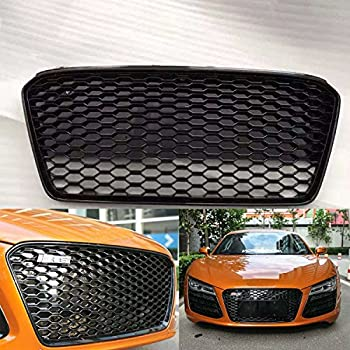 quwei rs5 style gloss black mesh grill front. Black Bedroom Furniture Sets. Home Design Ideas