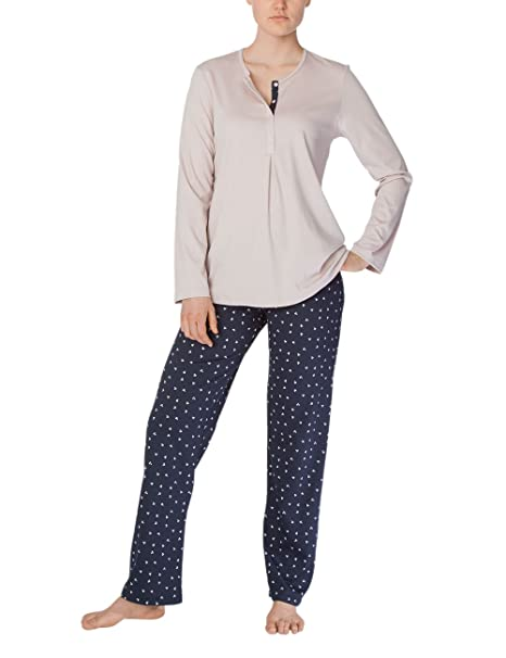 Calida Deborah, Conjuntos de Pijama para Mujer, Azul (Parisian Night 429),