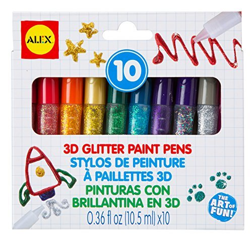 ALEX Toys Artist Studio 3D Glitter Paint Pens by ALEX Toys