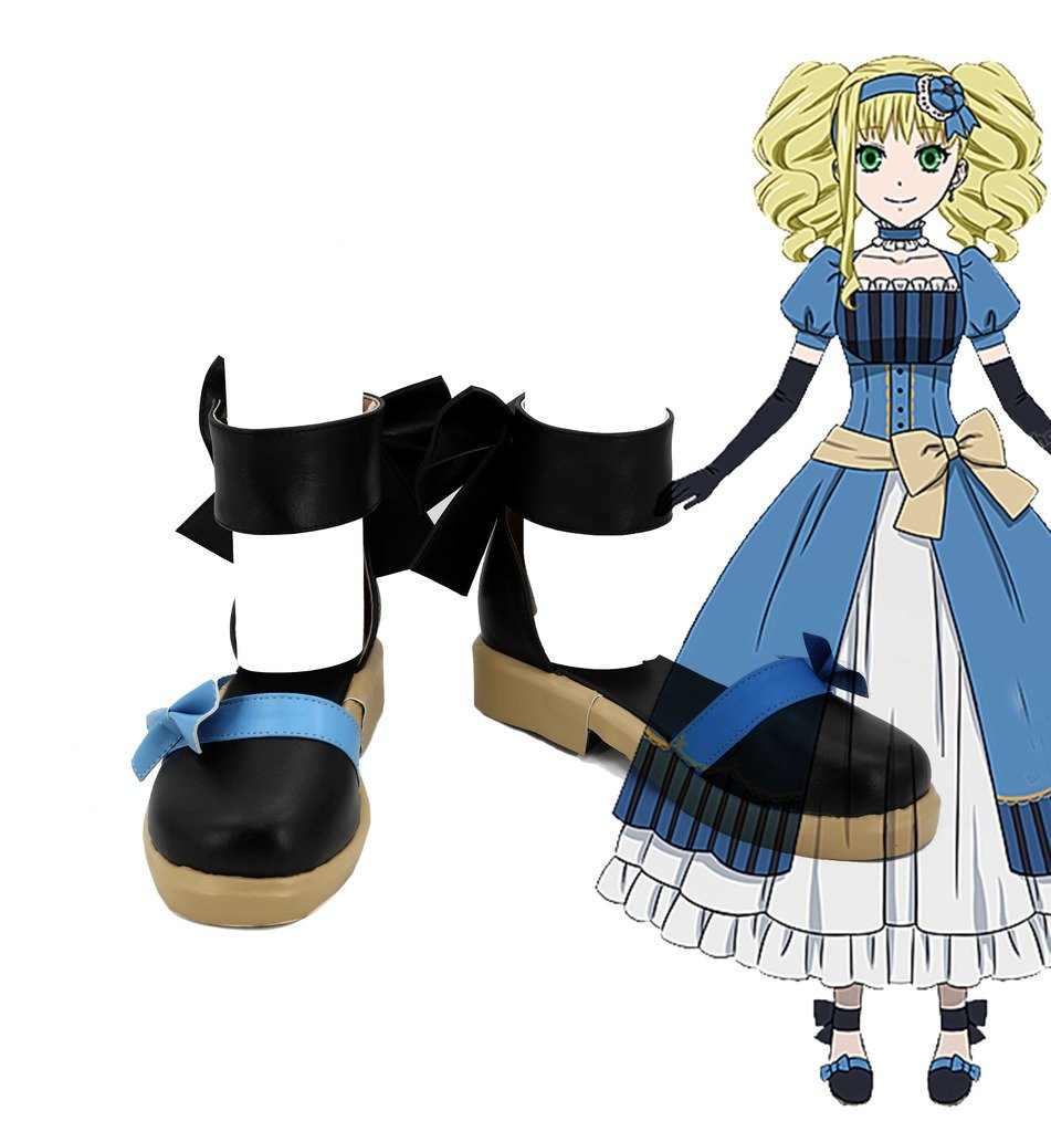 Black Butler Book of the Atlantic Elizabeth Blue Formal Dress Shoes Cosplay Shoes Boots Custom Made 10 B(M) US Female