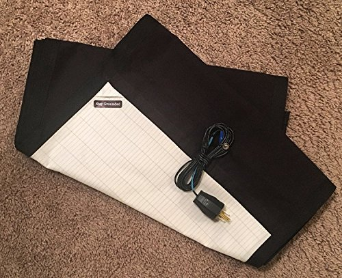 King Size Cotton & Silver Grounding Body Sheet (Black) - All Natural Conductive Fabric - Re-establish your connection with the earth!