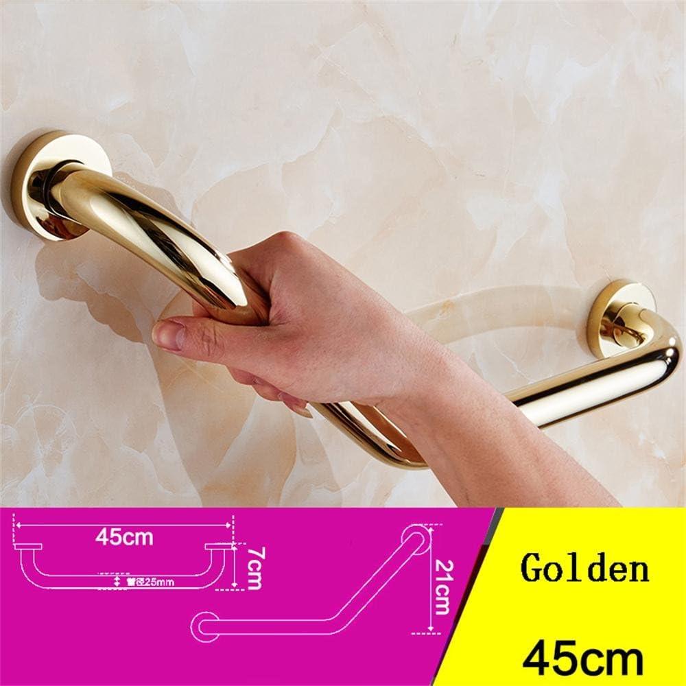 Goquik Bathroom handrail Full Bathroom Copper Bathtub Handrail Safety Handle Old Bathroom Handrail armrest (Color : Gold) 61P0nNsd8-L