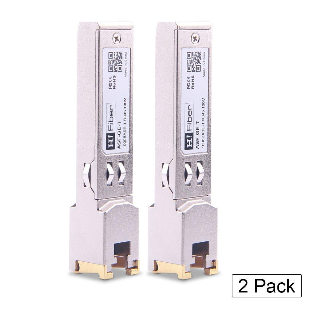 SFP Copper RJ45 Transceiver Gigabit Module 1000Base-T Compatible Cisco GLC-T/ SFP-GE-T, 2 Pack