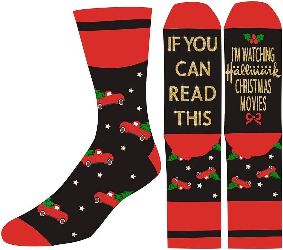 Unisex Hallmark Socks Weihnachts neuheit Socken f/ür Mann Frauen AimdonR Casual Brief gedruckt Socken