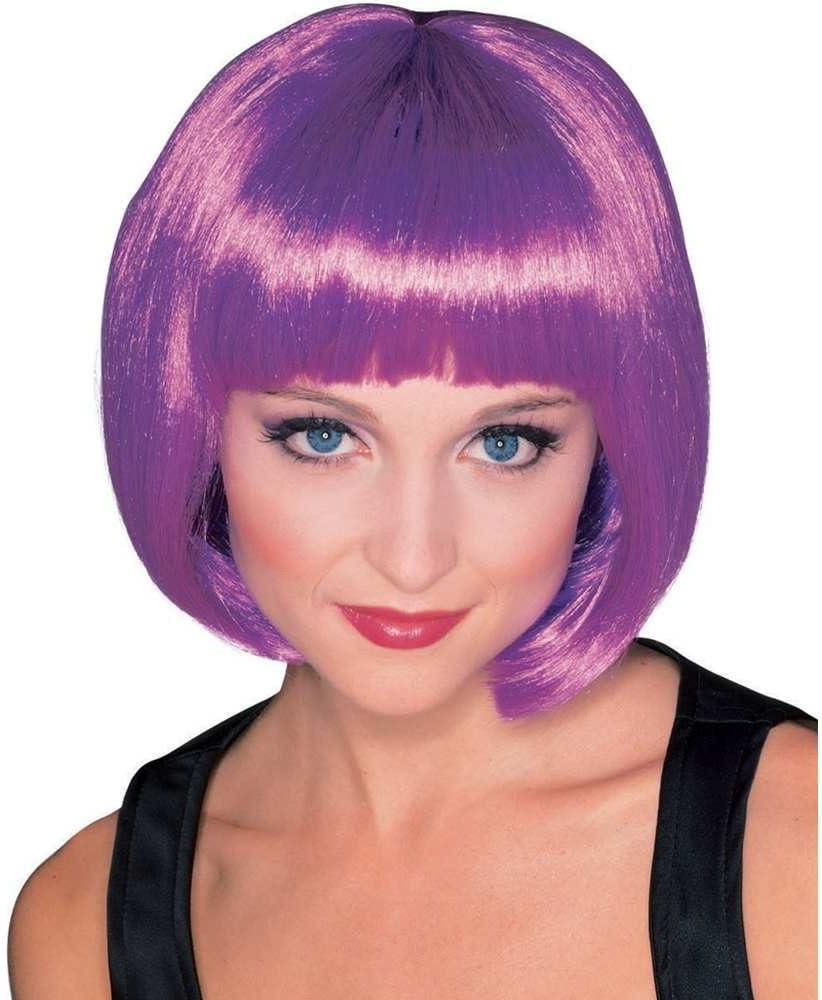 Peluca morada de Broadway, pelo corto y flequillo en lila, más colores disponibles (Rubies 50426): Amazon.es: Juguetes y juegos