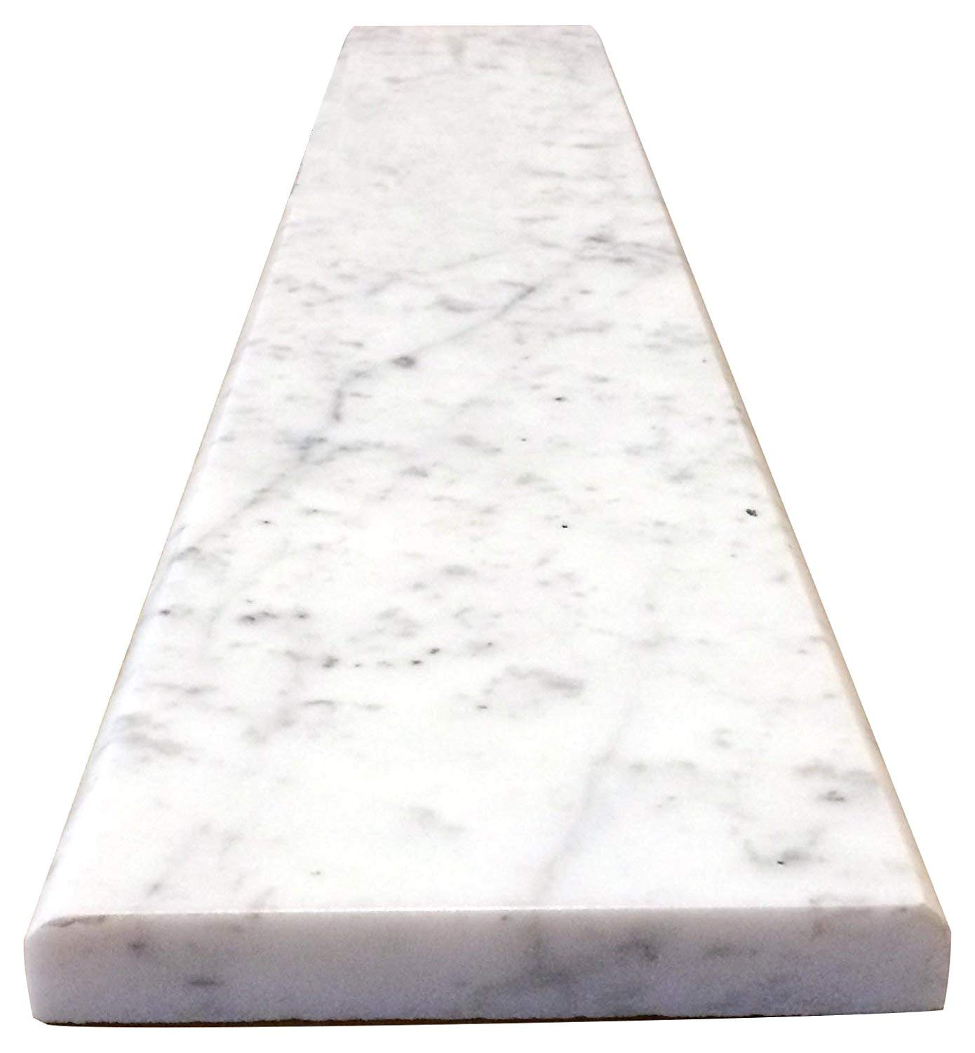 Vogue Tile Carrara Marble Threshold (Marble Saddle) - Polished - (4'' x 60'') by Vogue Tile