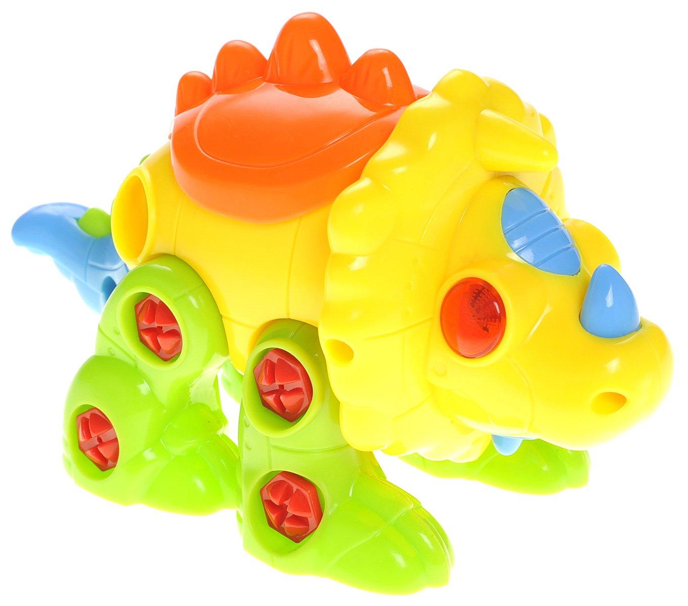 CHIMAERA Kids Brain Activity Interchangeable Triceratops Dinosaur Toy Playset