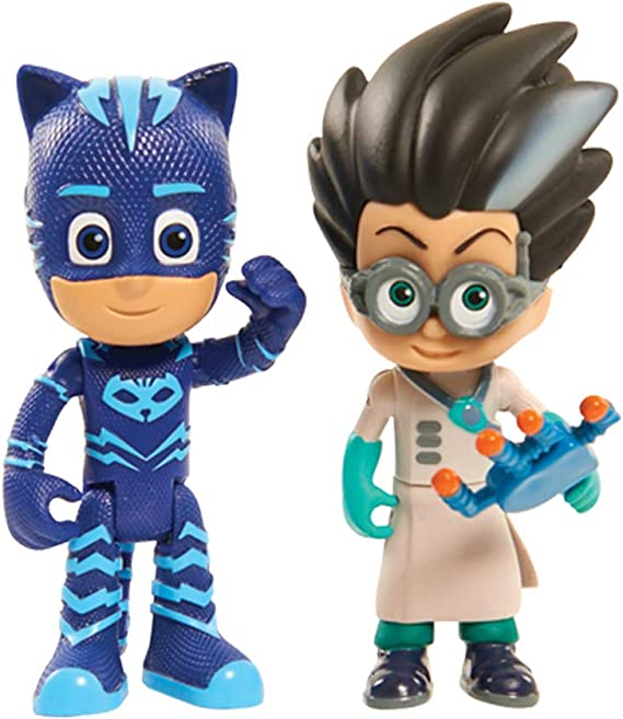 Just Play JPL24811 PJ Masks Light Up Figures Catboy vs Romeo, One Size, Multicolor