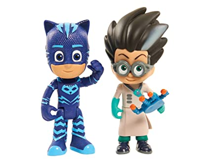 Just Play PJ Masks 2Pk Light Up Figures Catboy Vs. Romeo Toy Figure