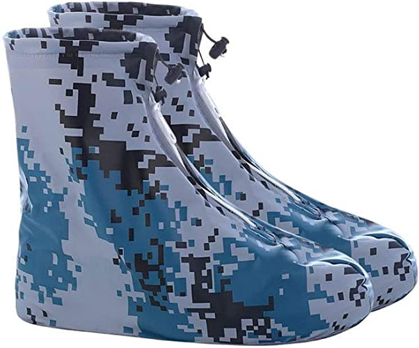Waterproof Rain Shoes Boots Covers Thick Bottom Travel Overshoes Galoshes Unisex