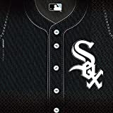 """LicensedMLB Chicago White Sox Party Luncheon Party Napkins Tableware, Paper, 6"""" x 6"""", Pack of 36"""