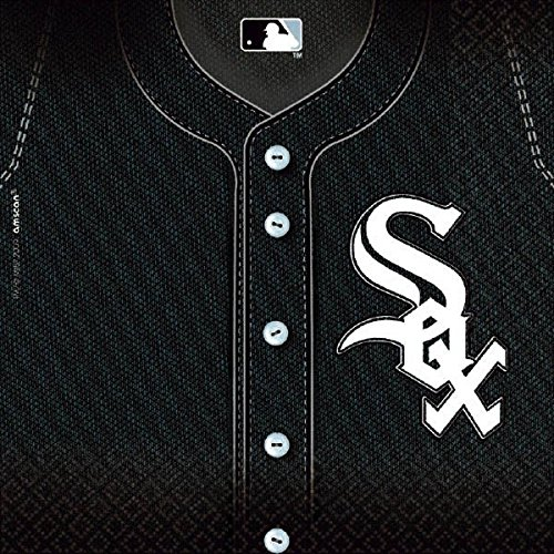 Licensed MLB Chicago White Sox Party Luncheon Party Napkins Tableware, 36 Pieces, Made from Paper by ()
