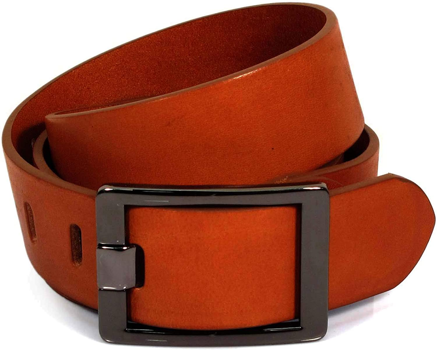UW3 Womens Real Genuine Leather Tan Brown Belt 1.5 Wide S-XL Thick Casual Jeans