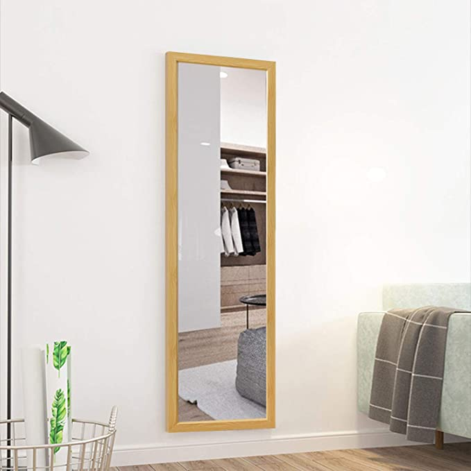 Kiayaci Full Length Mirror Decor Wall Mounted Mirror Floor Mirror Dressing Mirror Make Up Mirror Polystyrene Frame Bathroom Bedroom Living Room Dining Room Entry Natural 55 X 16 Kitchen Dining