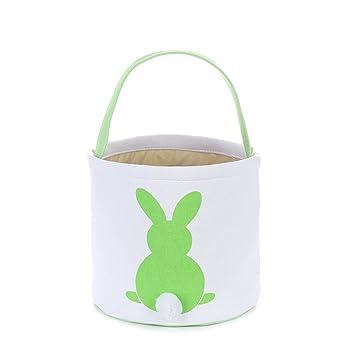 Amazon foldable easter basket easter bunny bag easter eggs foldable easter basket easter bunny bag easter eggs hunt bag giftsfluffy tails printed rabbit negle Choice Image