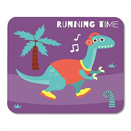 Boszina Mouse Pads Birthday Colorful Animal Dinosaur for Children Funny and Cute Dino Design Series Baby