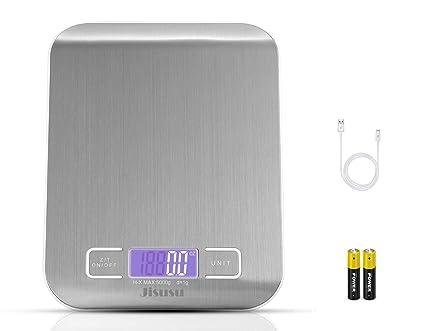 JISUSU Báscula de Cocina Digital pequeño de precisión en hasta 1 G/5kg Peso máximo