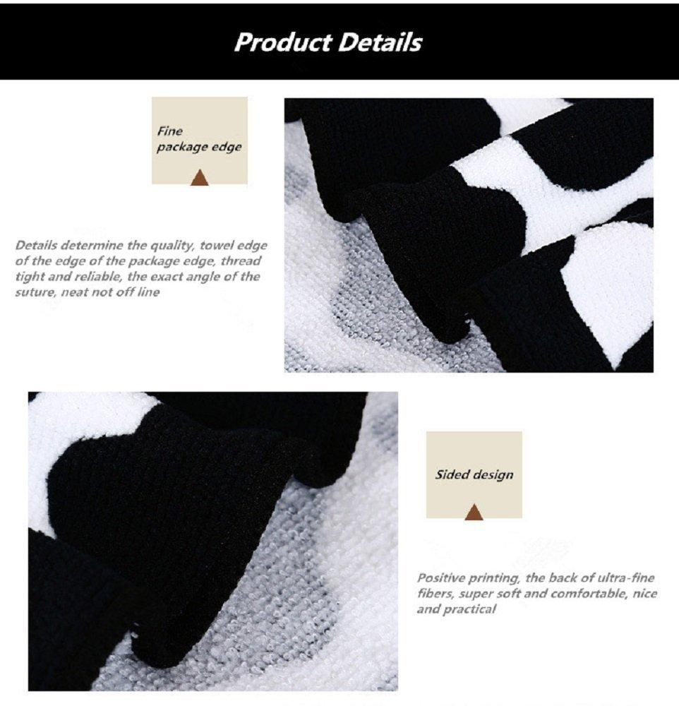 Extra Large Toalla de baño algodón leopardo negro de microfibra suave toallas de baño: Amazon.es: Hogar