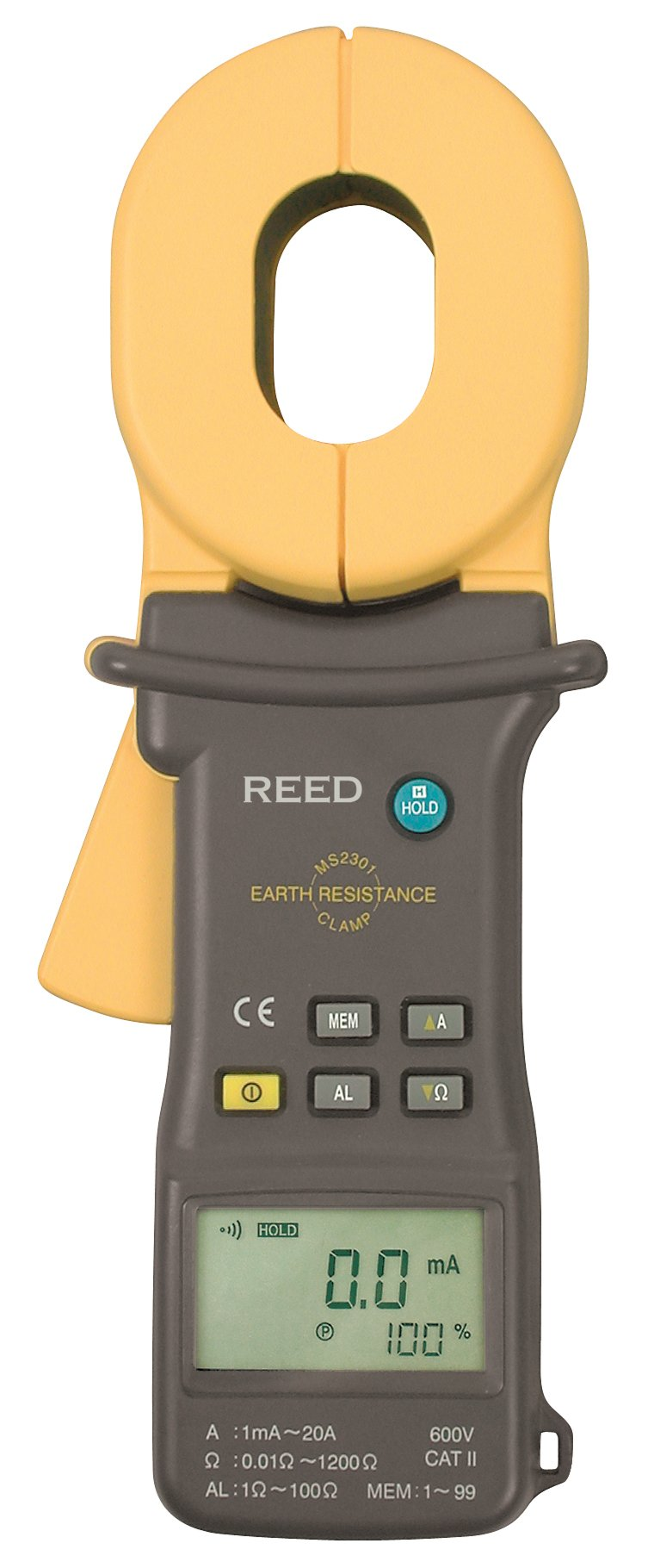 REED Instruments MS2301 Clamp-on Ground Resistance Tester
