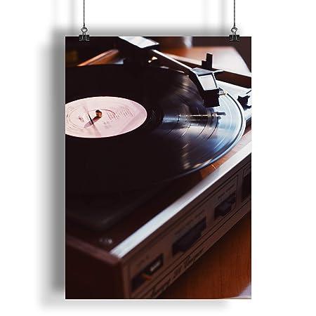 INNOGLEN Vintage Retro Antiguo Tocadiscos de Vinilo A0 A1 A2 A3 A4 ...
