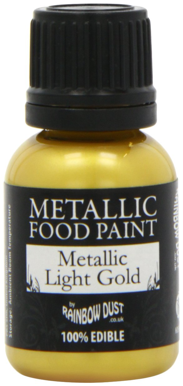 Amazon.com: Rainbow Dust Metallic Light Gold Edible Food Paint ...
